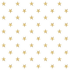 Seamless pattern with golden stars. Vector illustration.