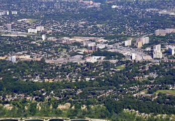 aerial view of Scarborough Ontario, Canada