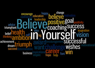 Believe in Yourself, word cloud concept 5
