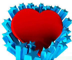 Valentines heart  love 3D image