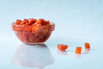 Pimentos in an ingredient bowl