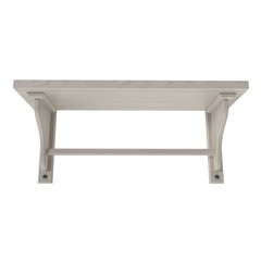 Wooden Kitchen Shelf on white. 3D illustration
