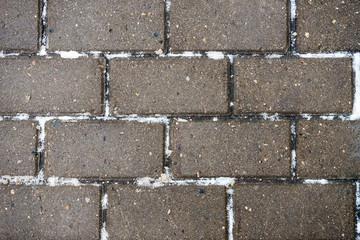 The texture of paving stone masonry