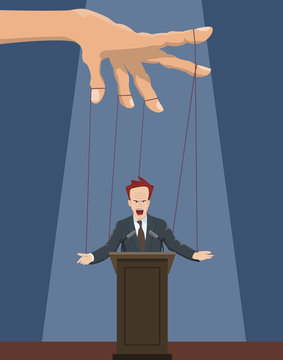 The speaker as a marionette.