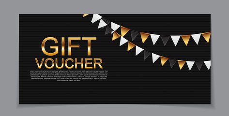 Gift Voucher Template for Discount Coupon  Vector Illustration