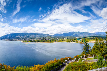 Vanouver Skyline at Prospect Point in Stanley Park, Canada