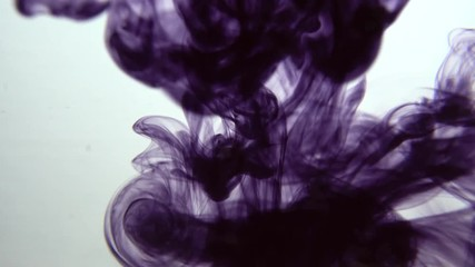 Stock Video of Real Ink drop in water  Mysterious plum ink reacting