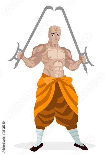 shaolin monk cartoon. Black Bedroom Furniture Sets. Home Design Ideas