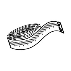 sewing tape measure icon vector illustration graphic design