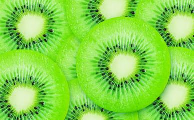 Slice of kiwi fruit.