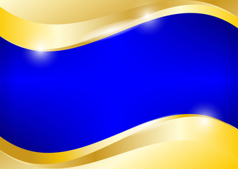 Blue and gold background vector graphic design