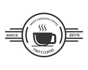 cafe shop logotype icon