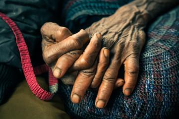 Hands of woman in Wamena
