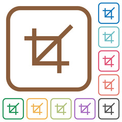 Crop tool simple icons