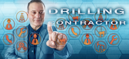 Cheerful Engineer Pressing DRILLING CONTRACTOR