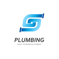 Vector logo design for plumbing company.
