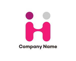 H and I Logo Letter