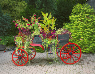 Garden decoration, with soft oil painting effect.