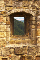 Window in a stony wall