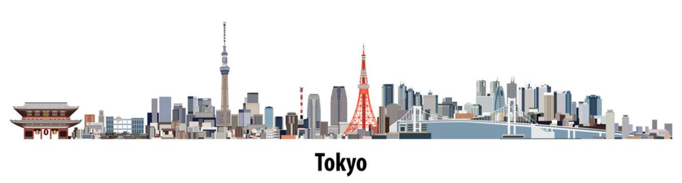 abstract vector skyline of Tokyo