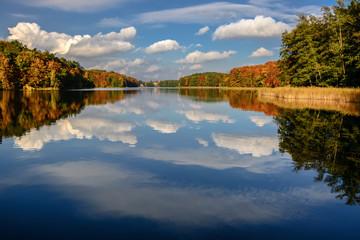 Jezioro Łagowski w Łagowie, woj. Lubuskie.