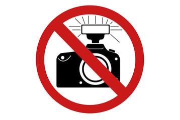 Panneau interdit prendre photos avec flash