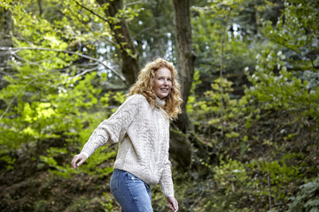 Smiling woman in the nature