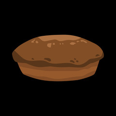 long loaf flat icon