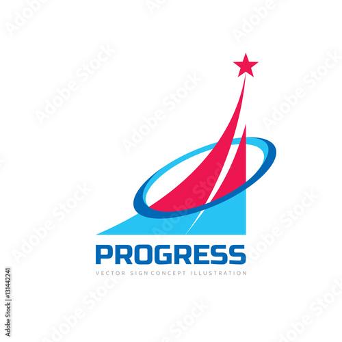 Progress Abstract Business Vector Logo Template Design Elements