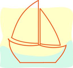 ship, sea, water, ocean, travel, boat, sail, transportation, vector,