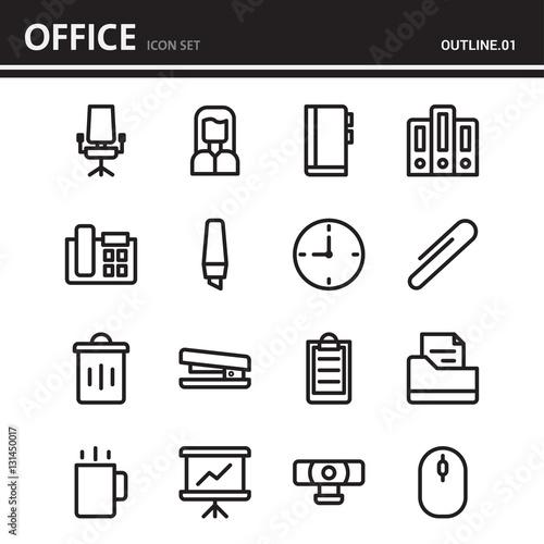 business and office outline icon design set 1 fichier vectoriel libre de droits sur la. Black Bedroom Furniture Sets. Home Design Ideas