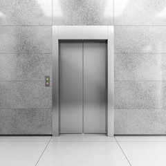 Modern steel elevator