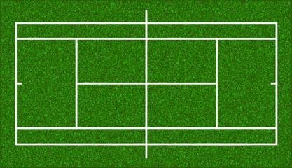 Tennis court. Realistic textured grass. Vector