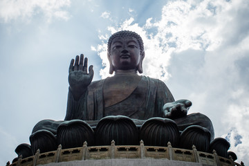 Big Buddha in Hongkong, Landmark at Nong Ping, Hong Kong