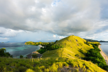 Overview to Seraya Island from the hill, East Nusa Tenggara, Indonesia