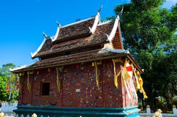 Chapel rouge à Wat XiengThong Temple Luang Prabang, Laos