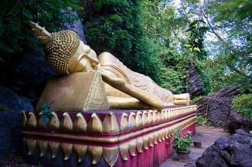 Bouddha couché sur le Mont Phousi - Luang Prabang - Laos