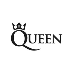 crown with home symbol. logo template. logo vector.
