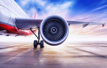 Türaufkleber Flugzeug turbine of an airliner