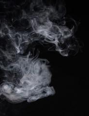 Smoke on a black background. Screen blend mode