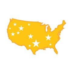 USA gold map. logo vector.