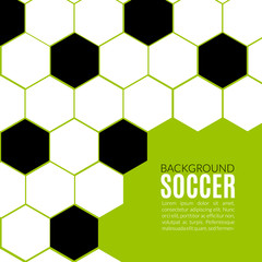 Soccer hexagonal background design template. Football or soccer poster banner layout