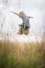 Happy kids in nature enjoying