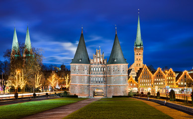 Holstentor in Lubeck, Deutschland