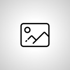 picture line icon. isolated sign symbol
