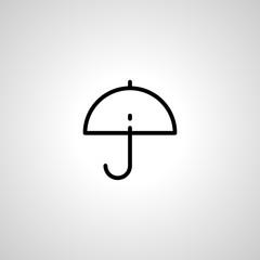 umbrella line icon. isolated sign symbol