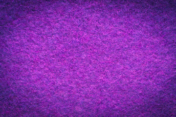 Background And Texture Of Melange Fuzzy Woolen Cloth Of Pink And Purple Colors Close Up. Vignette.