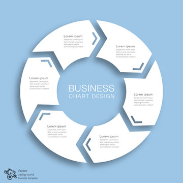 Business Chart Design 6-Step #Vector Graphic