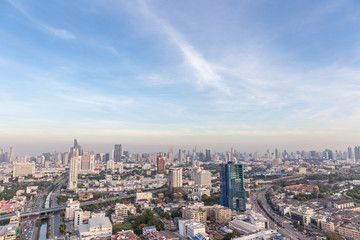 Bangkok cityscape, central business district of Thailand.