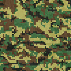 Seamless, Digital Camouflage pattern vector